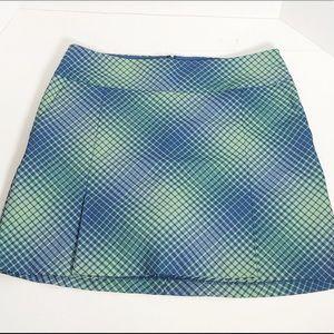 Nike Golf Dri fit checked plaid skirt skort size 8